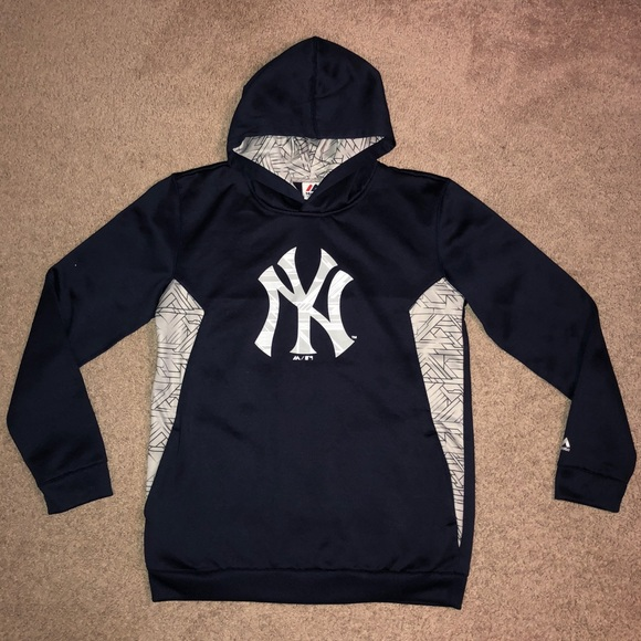 buy online 199ea 5720c Kid's NY yankees majestic sweatshirt hoodie XL